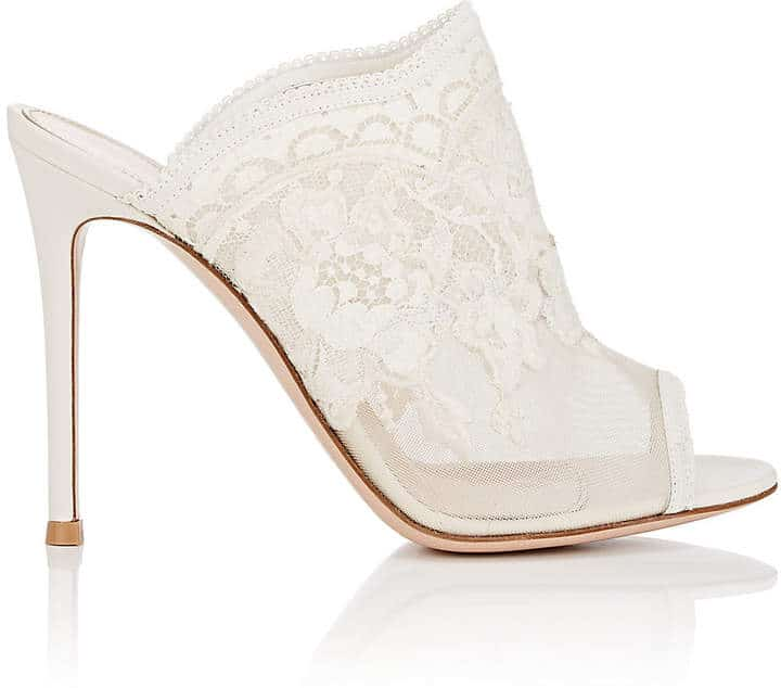 Gianvito Rossi Lace Mules. BUY NOW!!!
