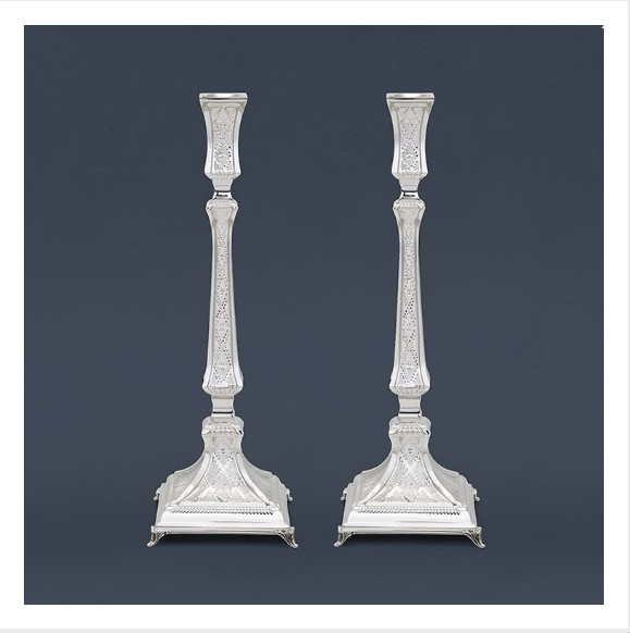 Decorate Your Home With Sterling Silver Candlesticks #sabbath #shabbat #silver #candlesticks #bevhillsmag #beverlyhills #beverlyhillsmagazine