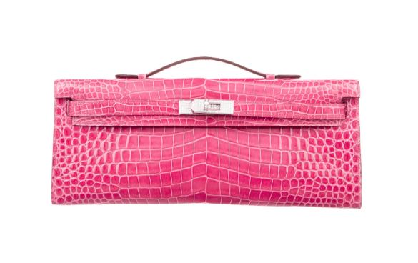 Hermès Exceptional Porosus Crocodile Kelly Cut Clutch