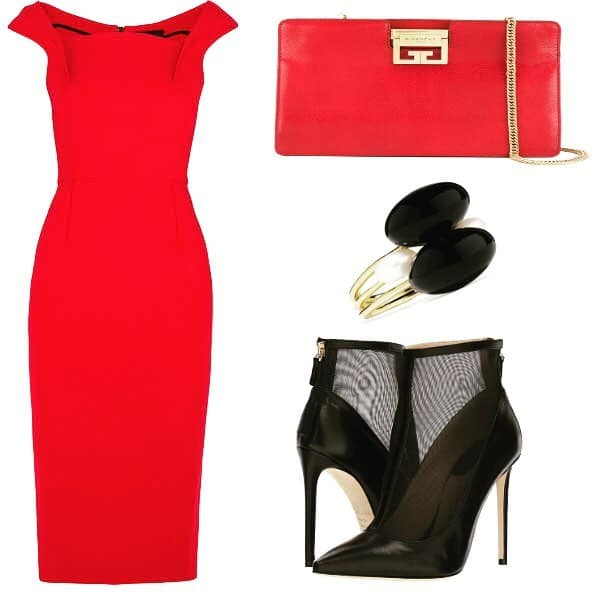 Lady Style In Red. SHOP NOW!!! #BevHillsMag #beverlyhillsmagazine #fashion #style #shopping #SHOP
