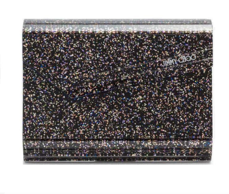 Jimmy Choo Glitter Clutch. BUY NOW!!! #beverlyhillsmagazine #bevhillsmag #shop #style #shopping #fashion