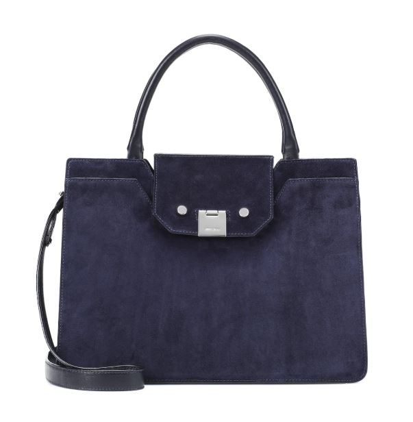 Jimmy Choo Blue Suede Tote Handbag. BUY NOW!!! #shop #fashion #style #shop #shopping #clothing #beverlyhills #dress #shoes #boots #beverlyhillsmagazine #bevhillsmag #dresses #balmain