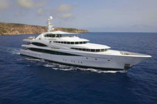 223' Luxury Yacht In Open Sea