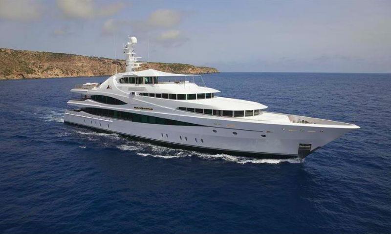 223' Luxury Yacht In Open Sea