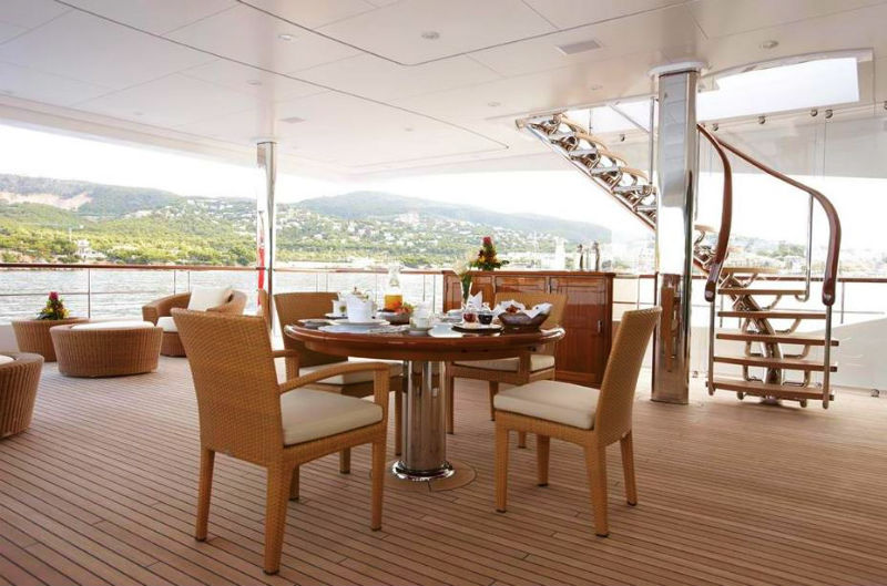 223' Luxury Yacht Dining Deck