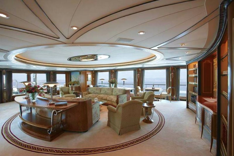223' Luxury Yacht Living Room