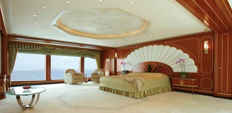 223' Luxury Yacht Spacious Bedroom
