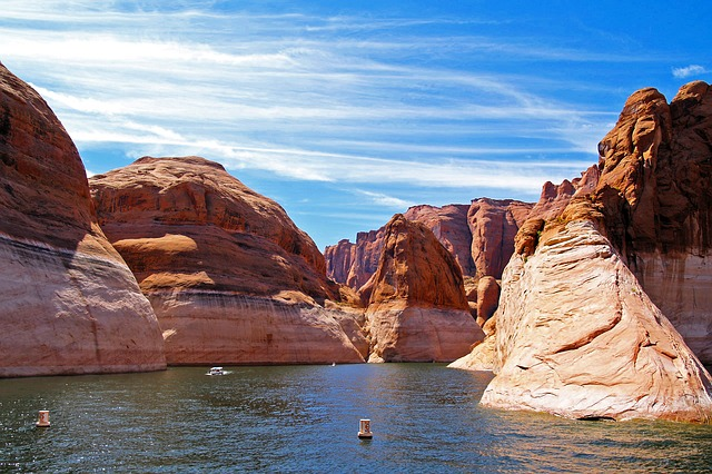 Lake Powell Mountains And Water in Arizona