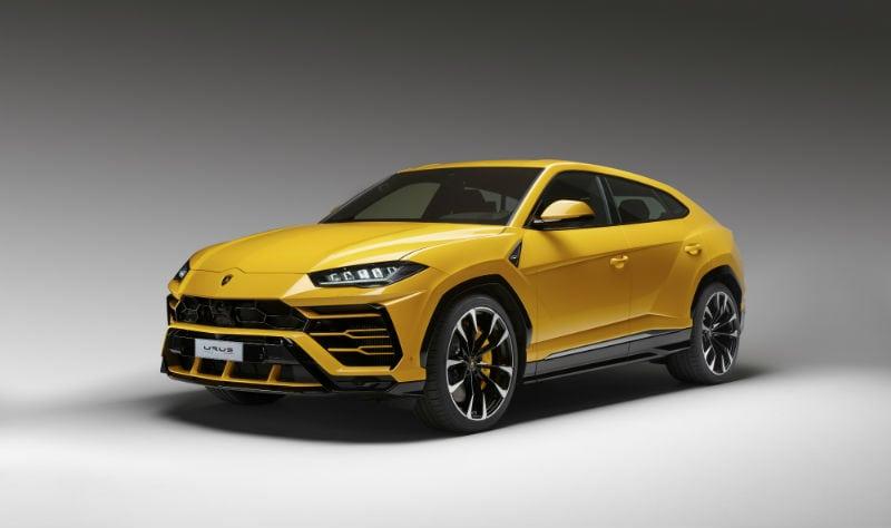Yellow Lamborghini Urus