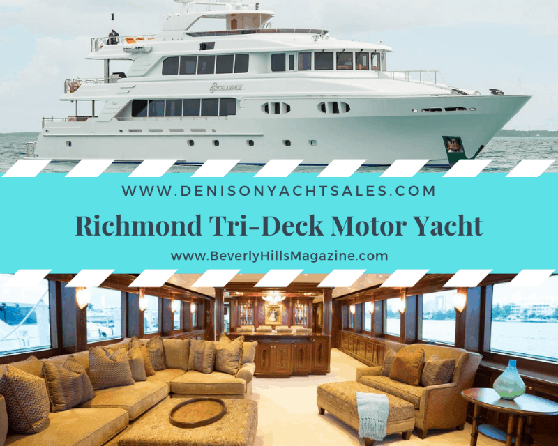 Richmond Tri-Deck Luxury Motor Yacht- #BevHillsMag #beverlyhillsmagazine #beverlyhills #cars #privatejets #yachts #yacht #luxury #coolcars #dreamcar #dreamcar #carmagazine #fastcars