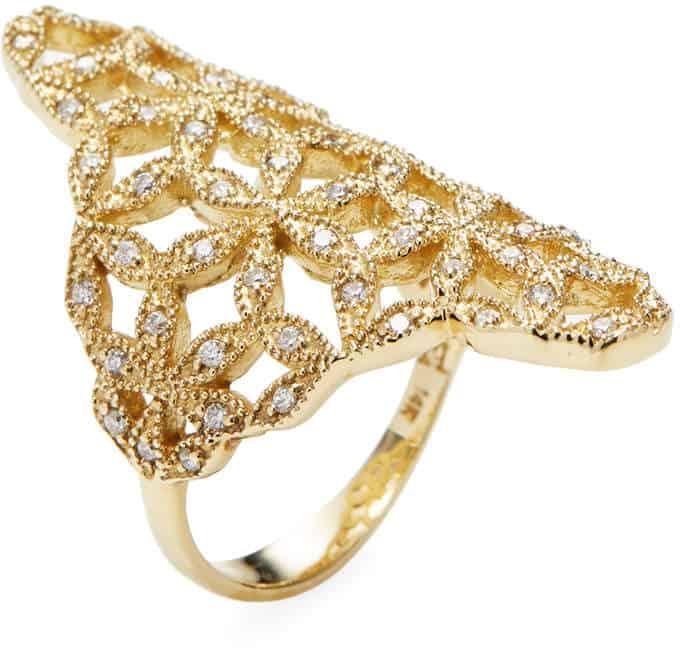 Mizuki Woven Petal Gold & Diamond Ring. BUY NOW!!!