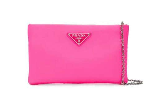 Pink Prada Handbag With SIlver Chain. BUY NOW!!! #shop #fashion #style #shop #shopping #clothing #beverlyhills #dress #shoes #boots #beverlyhillsmagazine #bevhillsmag #handbags #purses #bags #prada #pink