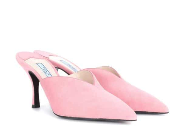 Pink PRADA Mules. BUY NOW!!! #beverlyhillsmagazine #beverlyhills #fashion #style #shop #shopping #shoes #highheels