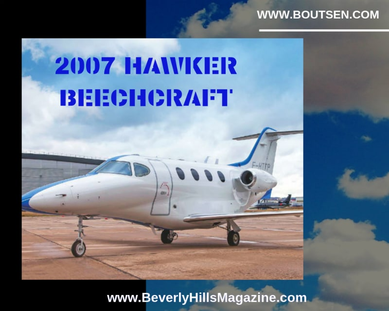 2007 Hawker Beechcraft Private Jet on Tarmac