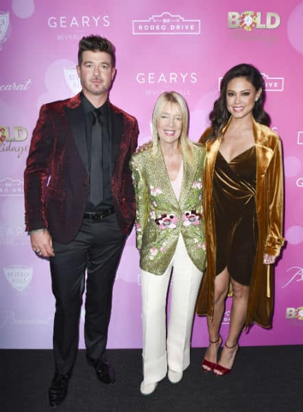 Robin Thicke, Lily Bosse, and Vanessa Lachey at the Rodeo Dr Lighting Ceremony