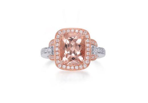 Morganite & Diamond Ring. BUY NOW!!! #beverlyhills #beverlyhillsmagazine #bevhillsmag #shop #shopping #jewelry