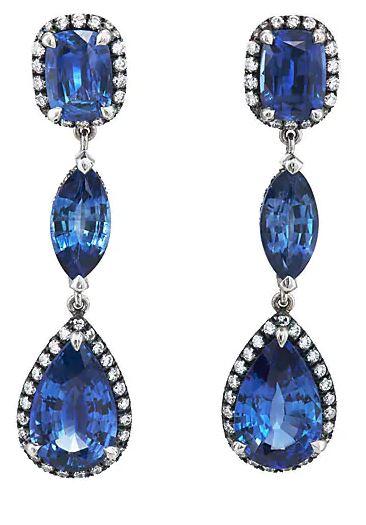 Blue Sapphire Earrings. BUY NOW!!! #beverlyhills #watches #shop #jewelry #necklace #rings #earrings #bevhillsmag #bevelryhillsmagazine
