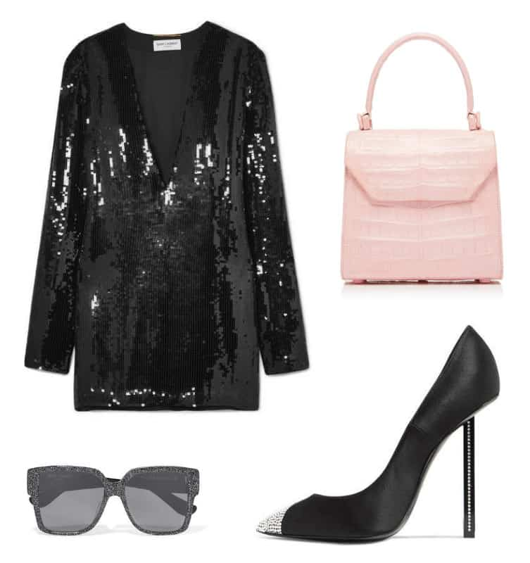 Saint Laurent Dress Style. SHOP NOW!!! #BevHillsMag #beverlyhills #shopping #fashion #shop #style