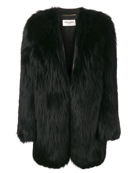 Saint Laurent Fur Coat. BUY NOW!!! #fashion #style #shopping #beautiful #clothing #fashionblog #styleblogs #redcarpet #fashionblog #beverlyhills #beverlyhillsmagazine #bevhillsmag #fashiondesigner #fashiondesign #royalty #royal #fashiondesigners #BevHillsMag