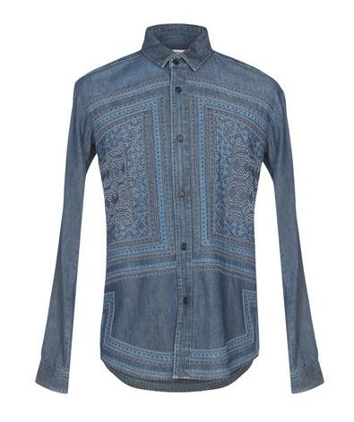Saint Laurent Denim Shirt For Men. BUY NOW!!! #fashion #style #shop #shopping #clothing #beverlyhills #styleformen #beverlyhillsmagazine #bevhillsmag