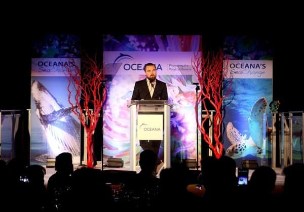 Leonardo Dicaprio supports OCEAN Charity
