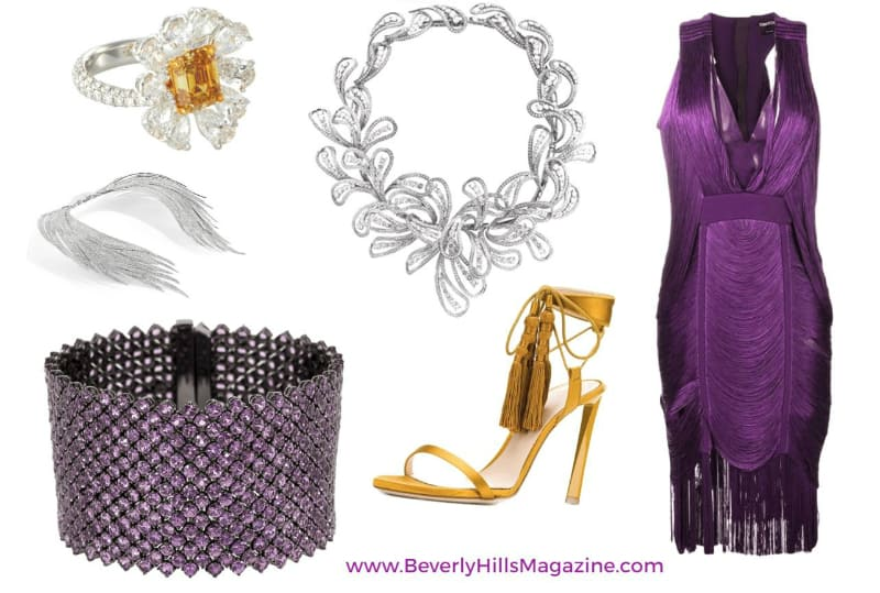 Stunning Purple Gold Style- #bevhillsmag #BevHillsMag #beverlyhillsmagazine #fashion #style #newstyles #fashionblog #shop #shopping #clothes #fashionworld #fashionmagazine #instyle #stylemagazine #diamonds #diamond #jewelry #jewellery #necklace #rings #earrings #gold #jewels #silver #whitediamonds
