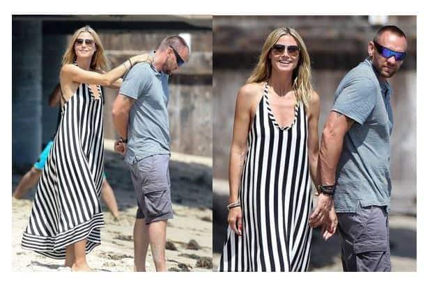Heidi Klum Beach Style. SHOP NOW!!! ♥ #BevHillsMag #beverlyhills #fashion #style #shopping