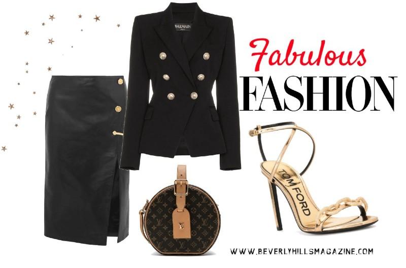 Stylish Black Versace Skirt Fashion #fashion #style #versace #blackskirt #skirt #highheels #tomford #shopstyle #shop #shopping #clothes #bevhillsmag #beverlyhills #beverlyhillsmagazine