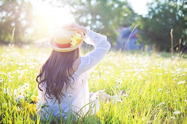 Beautiful Girl In The Summer Sun
