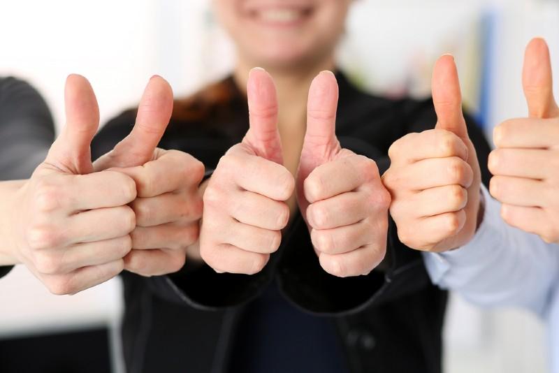 Thumbs Up Positive feedback Beverly Hills Magazine