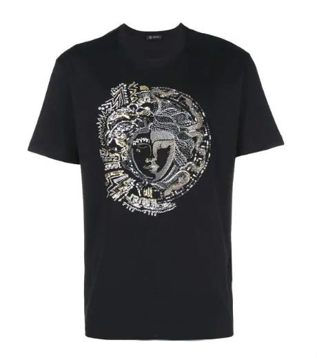 #Versace Medusa T-Shirt For Men. BUY NOW!!! #shop #fashion #style #shop #shopping #clothing #beverlyhills #styleformen #beverlyhillsmagazine #bevhillsmag