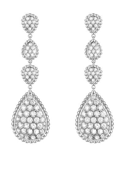Boucheron Diamond Drop Earrings. BUY NOW!!! #diamonds #rings #diamond #earrings #silver #bracelets #jewels #pink #gemstones #beautiful #gems #beverlyhills #beautiful #shopping #shop #BevHillsMag
