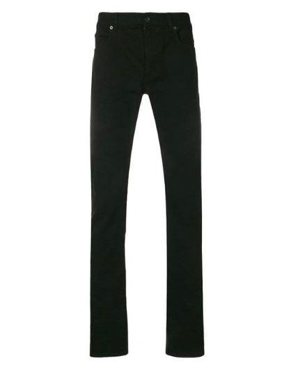 Black Versace Medusa Slim Jeans.