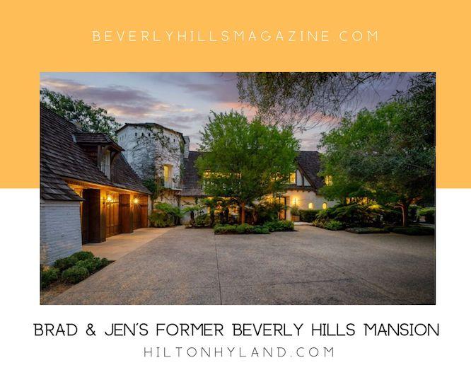 Brad & Jen's Former Beverly Hills Mansion #bradpitt #jenniferaniston #luxury #realestate #homesforsale #celebrity #celebrityhomes #celebrityrealestate #dreamhomes #beverlyhills #beverlyhillsmagazine #bevhillsmag