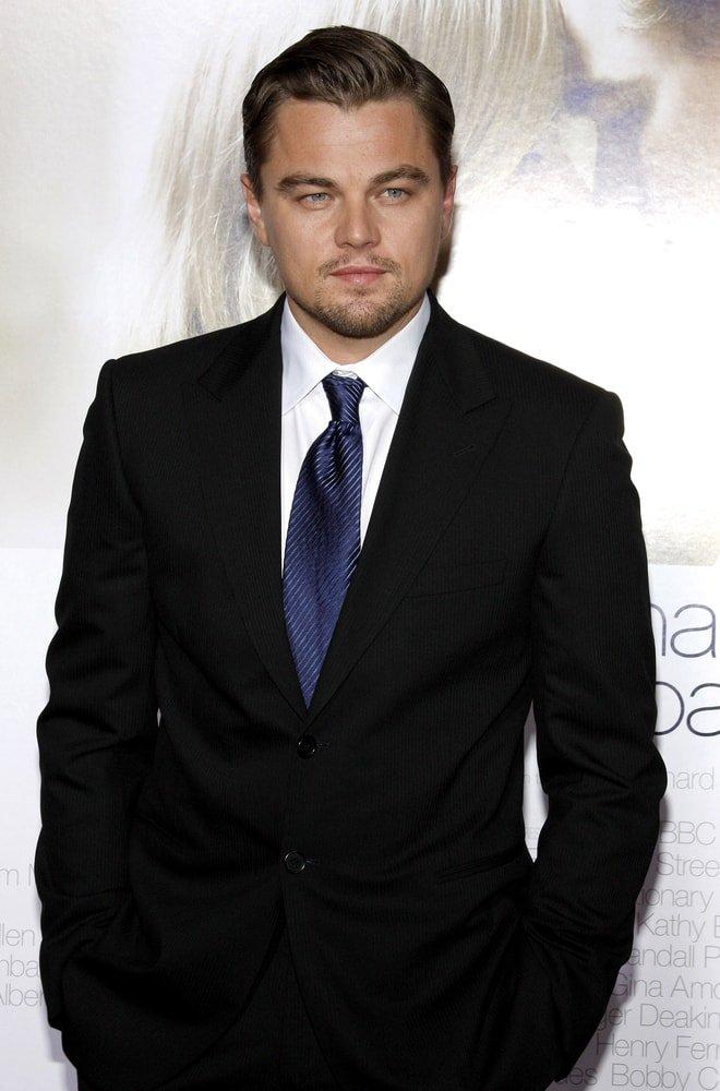 Close Up Shot of Famous Actor Leonardo DiCaprio