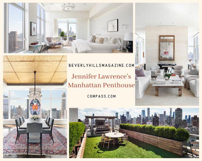 Jennifer Lawrence's Manhattan Penthouse #jenniferlawrence #luxury #realestate #homesforsale #celebrity #celebrityhomes #celebrityrealestate #dreamhomes #beverlyhills #bevhillsmag #beverlyhillsmagazine