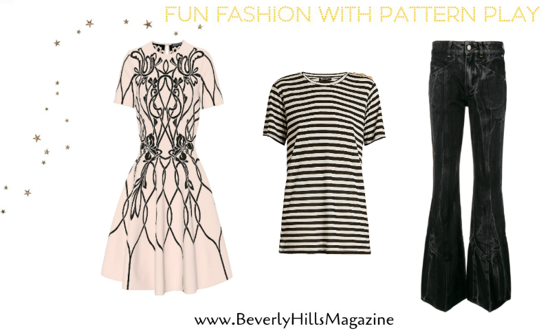 Fun Fashion With Pattern Play. BUY NOW!!! #fashion #style #shop #shopping #clothing #beverlyhills #shop #clothes #shopping #beverlyhillsmagazine #bevhillsmag #dress #styles #instyle #dresses #shop #clothes #shopping #shoes #handbags
