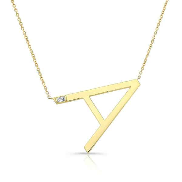 Dazzling Gold Initial Necklace #beverlyhills #beverlyhillsmagazine #fashion #style #hollywood #holidays #giftguide #holidaygiftsguide #giftideas #gifts