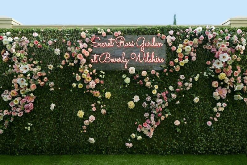 Secret Rosé Garden #beverlyhills #restaurants #pink #flowers #beverlywilshire #garden #love #beverlyhillsmagazine #bevhillsmag