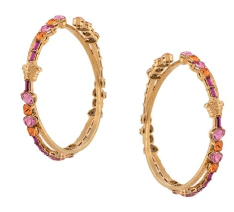 Beverly hills magazine Greca hoop earrings