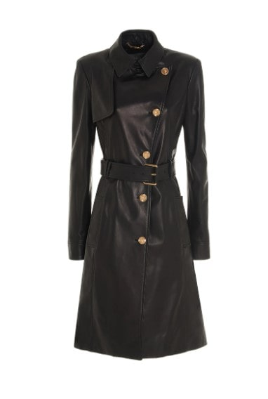 Beverly hills magazine Versace designers trench coat jacket