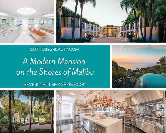 A Modern Mansion on the Shores of Malibu #luxury #realestate #homesforsale #dreamhomes #beverlyhills #bevhillsmag #beverlyhillsmagazine