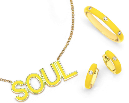 EF Collection + Soul Cycle Jewelry Line #shop #jewelry #necklaces #soulcycle #silver #gold #soulcycle #EFcollection