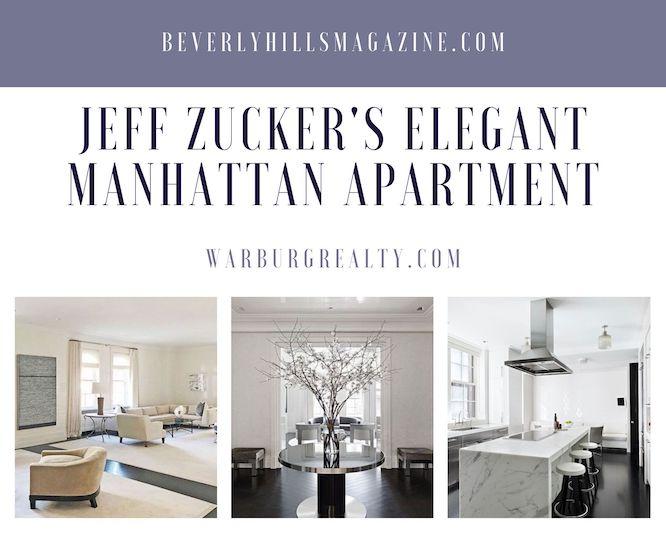Jeff Zucker's Elegant Manhattan Apartment #luxury #realestate #homesforsale #celebrity #celebrityhomes #celebrityrealestate #dreamhomes #beverlyhills #bevhillsmag #beverlyhillsmagazine #jeffzucker