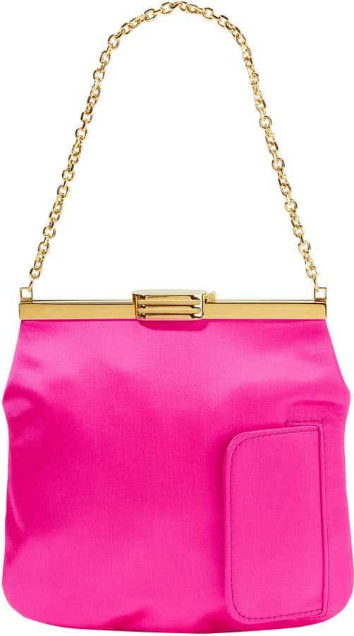 Pink Satin Handbag by Bienen Davies. BUY NOW!!! #BevHillsMag #beverlyhillsmagazine #fashion #style #shopping