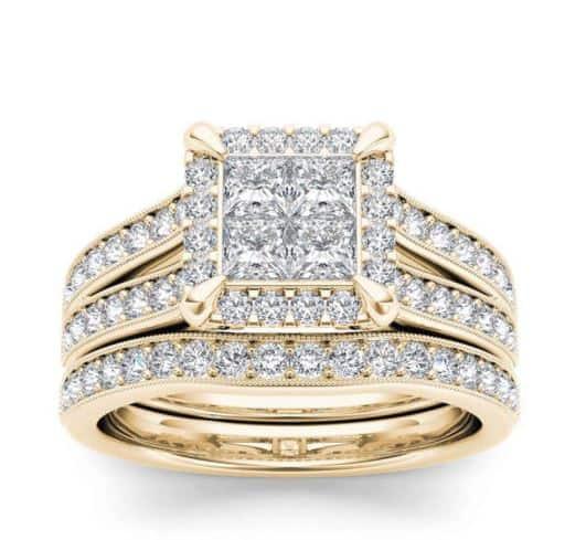 Gold Diamond Bridal Ring. BUY NOW!!! #beverlyhills #beverlyhillsmagazine #bevhillsmag #shop #shopping #jewelry