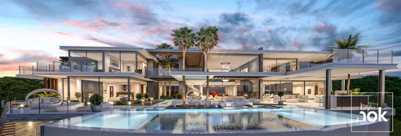 Architecture, construction and development of Villa Valhalla by By Nok #dreamhomes #realestate #homesforsale #Madrid #mansions #estates #beverlyhills #beverlyhillsmagazine #luxury #exclusive #luxurylifestyle #beautiful #life #beverlyhills #BevHillsMag #LaZagaleta #CostaDelSol #espana #Spain #villa #bynok @Bynok