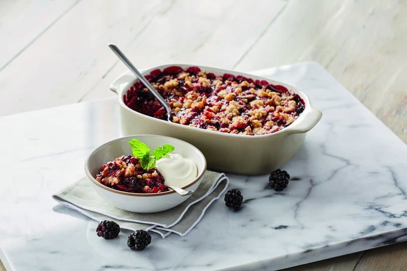 #Royal Recipes by Carolyn Robb: Apple & Blackberry Crumble #recipe #crumble #cake #recipes #food #cook #cooking #beverlyhills #beverlyhillsmagazine #carolynrobb #celebritychef #chef