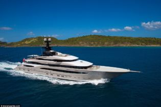 Superyachts Out In The Open Sea