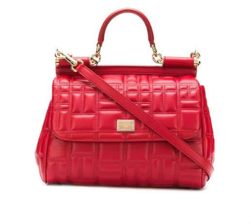 Red Quilted Dolce & Gabbana Handbag. BUY NOW!!! #shop #fashion #style #shop #shopping #clothing #beverlyhills #dress #shoes #boots #beverlyhillsmagazine #bevhillsmag #handbags #purses #bags #jewelry #jewellery #rings #diamonds #diamond #ring #highheels #shoes #shopstyle #handbags #handbag #purses